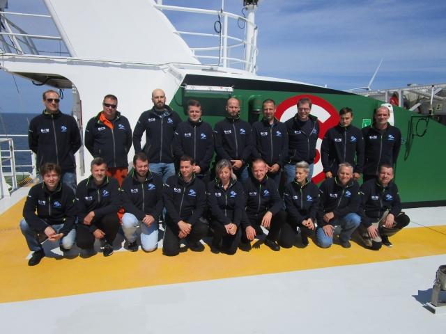 BSM crew on board Windea La Cour
